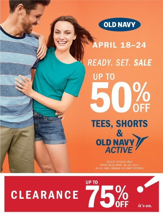 Old Navy April 18th thru April 24th Campaign