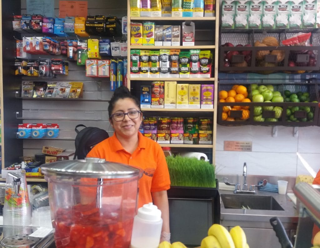 New Neighbor Juice Bar 168-03 Jamaica Avenue - Employe Nancy1
