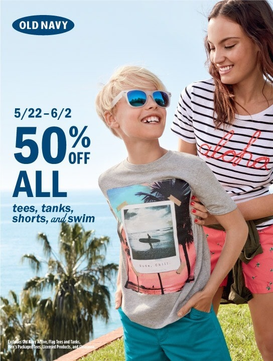 Old Navy May 22nd thru June 2nd Campaign