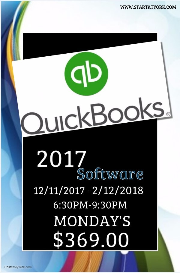 Photo - York College QuickBooks Training 2017-2018