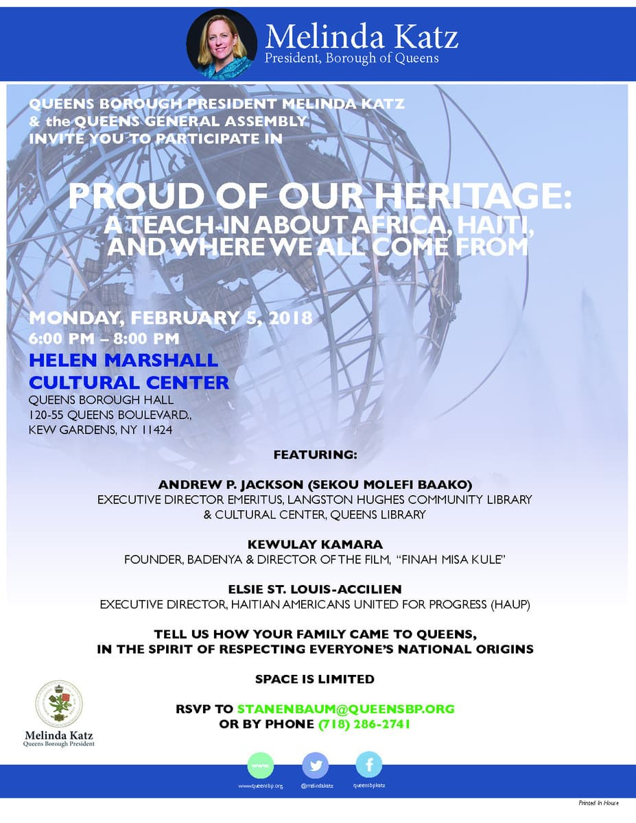 Event - Melinda Katz Proud of our Heritage
