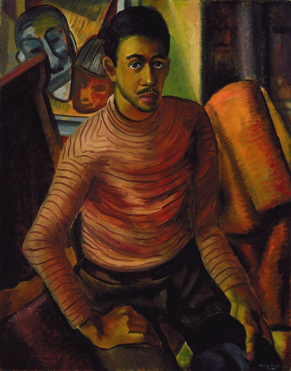 Malvin Gray Johnson Self Portrait 1934 Smithosonian Smithsonian_American_Art_Museum