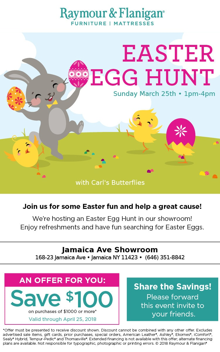 Event - Raymour & Flanigan Easter Egg Hunt 2018
