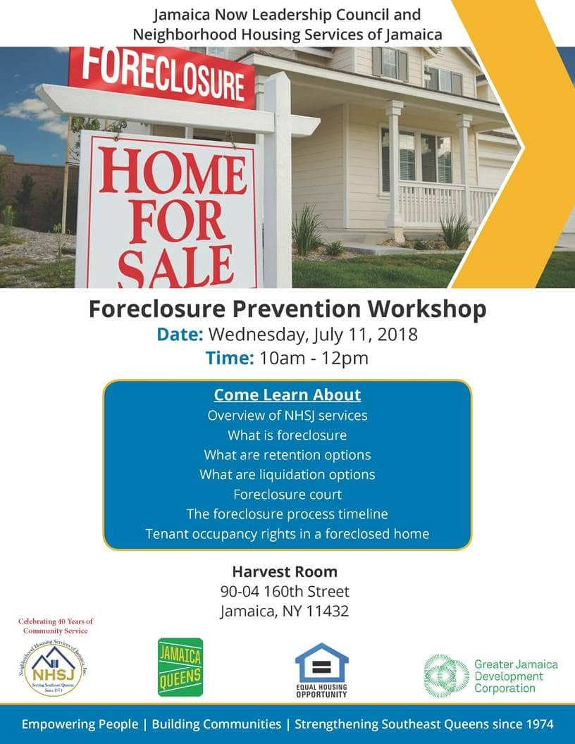 Flyer - Melva Miller Home Foreclosure Workshop